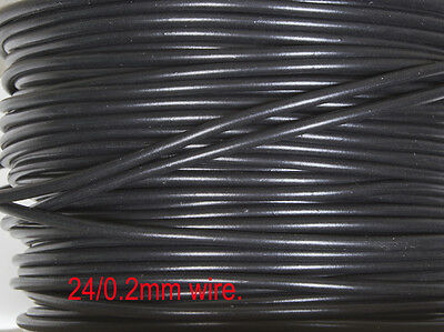 DCC Layout wire - BLACK 24/0.2mm heavy duty for DCC power bus wiring for N & OO.