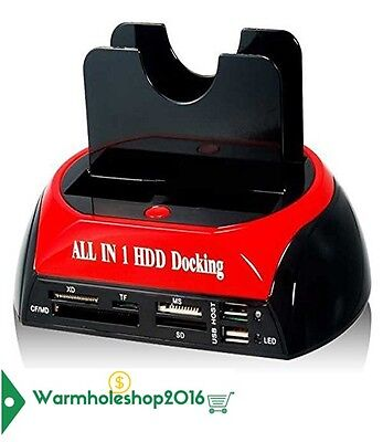 Docking Station Sata Ide 2,5'' 3,5'' Hard Disk Usb 2.0 Lettore Microsd Sd Hdd