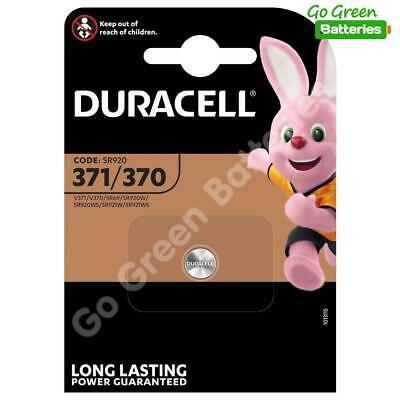 1x Duracell 371/370 1.5V Silver Oxide watch battery D371/370 V371/370 SR69