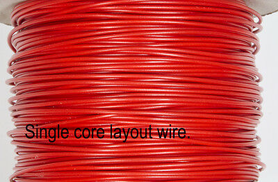 DCC Layout wire - RED 1/0.6 for DCC dropper wiring for N & OO gauge - 10 Metres.
