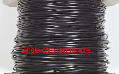 DCC Layout wire - BLACK 1/0.6 for DCC dropper wiring for N & OO gauge 10 Metres.