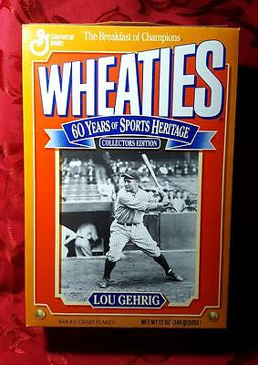 Wheaties Vintage Cereal Box Lou Gehrig 1992 (Near Mint) *