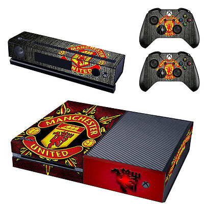 Manchester United Xbox ONE Vinyl Skin Sticker Decal Console & 2 Controllers NEW