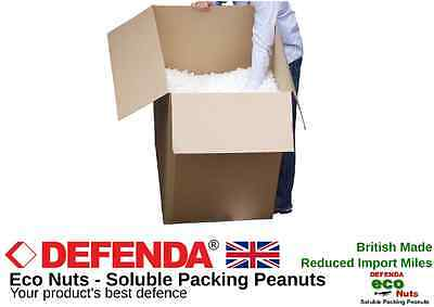 75 Cft SOLUBLE PACKING PEANUTS (BOXED) Bulk Void Loose Fill Box Filler ECO Nuts