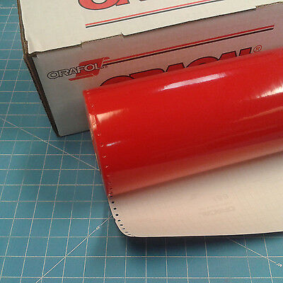"""Red 651 Oracal (1) 15"""" x 30 Ft Punched Roll of Sign Vinyl"""