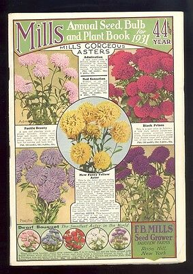 Mills Annual Seed, Bulb & Plant Book for 1931,  F.B. Mills Seed Grower, New York