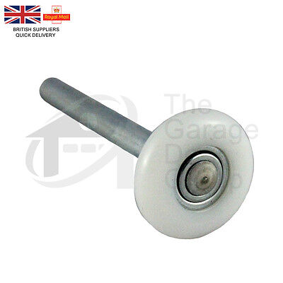 "46mm 2"" Sectional Garage Shutter Door Roller / Wheel - White Nylon Short Roller"