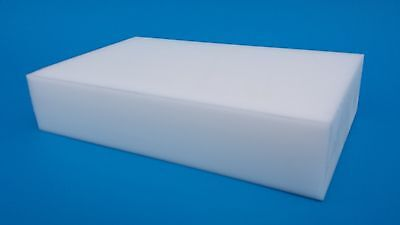 """White Acetal (Delrin) Block 2-1/8"""" thick,  - BEST PRICE ANYWHERE!"""