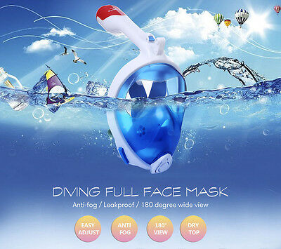 Full Face Dry Mask Underwater Surface Diving Snorkel Scuba for Swimming Gift NEW