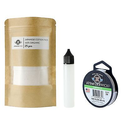 Kanthal & Japanese Cotton 100 ft 24 Gauge AWG A1 Round Wire 0.51mm A-1 24g