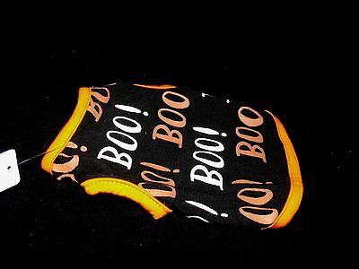 Martha Stewart Pets Halloween Costume Boo Repeat Tank Orange Black sz XS or XL