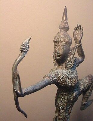 Good Luck Bow Naga Dragon King Archer RAMA,Ramayana,Buddha,Bronze,Statue,Archery