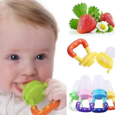 Safe Supplies Silicone Baby Feeder Feeding Fresh Food Fruit Juice Milk Shake New