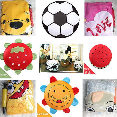Home Inflatable Chair Travel Folding Stool Children Toys Washable Furniture New