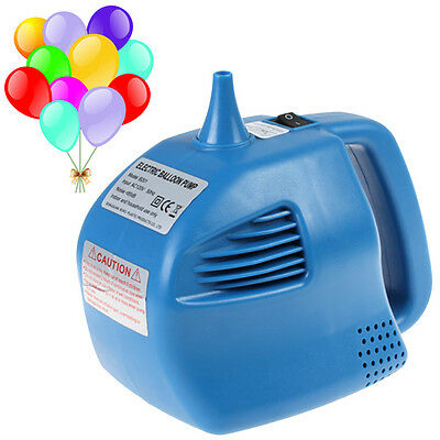 400W Portable Single Nozzle Air Blower Electric Balloon Inflator Pump Blue