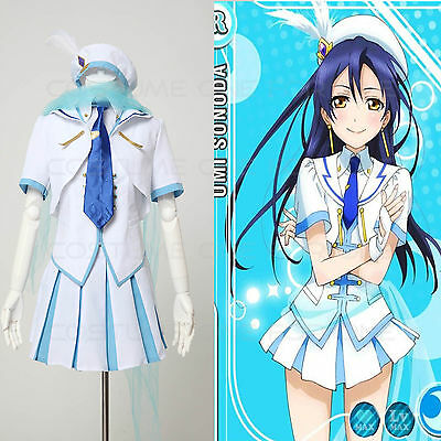 Love Live! Stage Cosplay UMI SONODA Costume Dress Skirt Outfit Type C Halloween