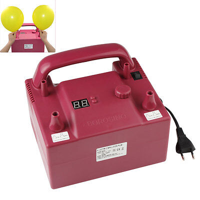 BOROSINO Red Portable Two Nozzle Air Blower Electric Balloon Inflator Pump 680W