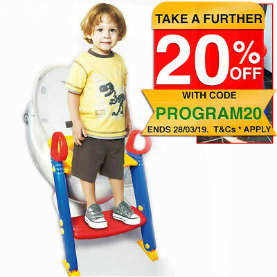 Kids Toddler Toilet Foldable Ladder Training Potty Seat Non-Slip Step Safety
