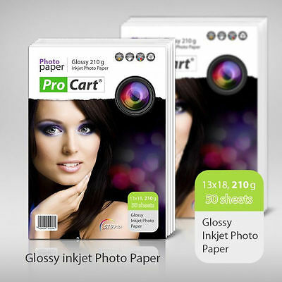 "High Glossy 5"" x 7"" Photo Paper 210g 50 Sheets"