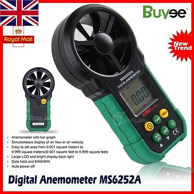 AIMO MS6252A LCD Digital Anemometer Wind Speed Meter Air Volume Tester Measure