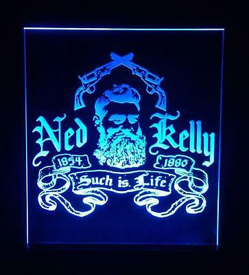 Ned Kelly Outlaw Such Is Life:  Large Led Bar Room Feature Night Table Light