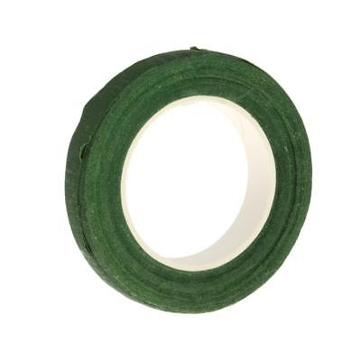 1 Roll Paper Stem Wrap Tape for Artificial Florist Floral Craft Accs Green