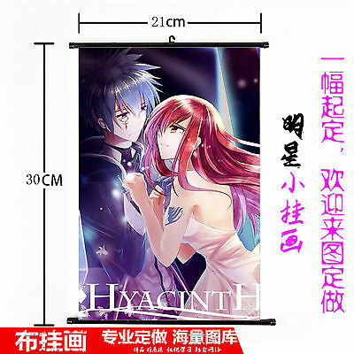 Hot Japan Anime Fairy Tail Wall Poster Scroll Home Decor 543