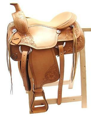 Western saddle DENVER Buffalo leather high quality New