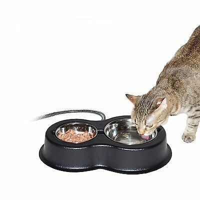 K & H Manufacturing Thermo-Kitty Cafe With Removable Stainless Steel Bowls 2093