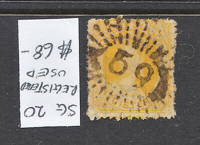 Qld Registration Stamp  Yellow   Sg 20  Used