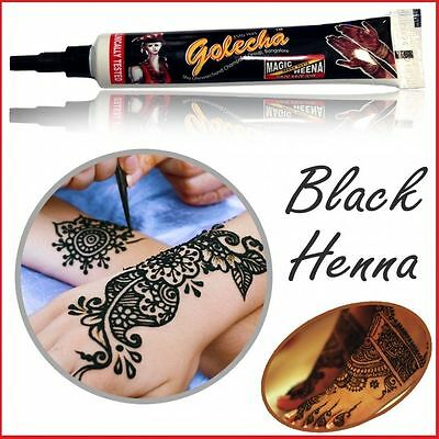 Henna Tube - Black Color Golecha Henna - Temporary Body Art - 100% Natural