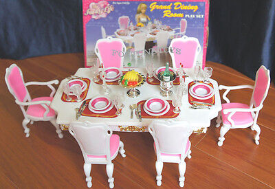 NEW FANCY LIFE DOLL HOUSE FURNITURE GRAND Dining Room Playset (2312)