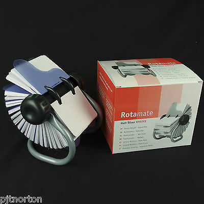 Rotary card index system with 500 cards - 105 x 74mm Rolodex rotating Rotamate
