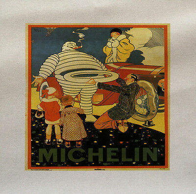 MIchelin Man Tyres - Printed Fabric Panel Make A Cushion Upholstery Craft