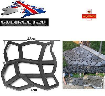NEW 2017 UK 43cm Heavy Duty Resin Garden Path Making Mould Patio Driveway Paving
