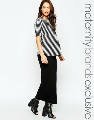 New Maternity Long Black (over the bump) Maxi Skirt Size 10 12 14 16 18