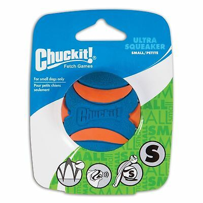 "CHUCKIT! ULTRA SQUEAKER Small BALL 2"" High Bounce Squeaker Use Launcher Dog Toy"