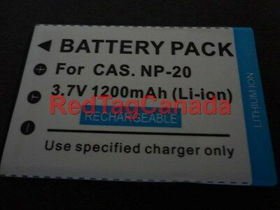 Battery for Casio NP-20 NP20 Exilim EX-Z70 Z77 EX-S880 1200mAh - Canada