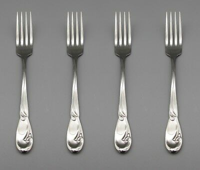 SET OF FOUR - Oneida Stainless CALLA LILY Dinner Forks * USA