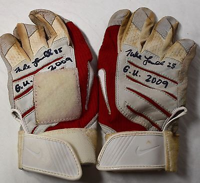 Mike Lowell Game Used Autographed Signed 2009 Batting Gloves Boston Red Sox