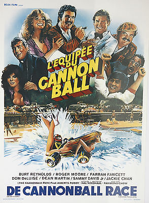 *Vintage L'Equipee du Cannonball Belgian Mini Film Poster French Cannonball Run