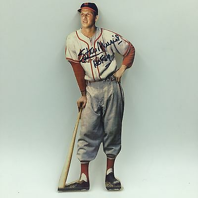 Vintage 1950's Stan Musial Signed Wood Cutout Figure PSA DNA COA