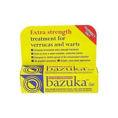 Bazuka Extra strength Gel treatment for verrucas and warts - 5g **Free Post**