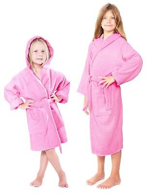 Turkish Terry Kids Bathrobes 100% cotton GREAT GIFT (many colors)
