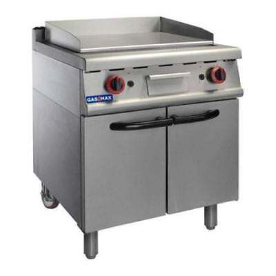 Gas Griddle / Hotplate on Cabinet, 630 x 500mm, Commercial Kitchen Equipment