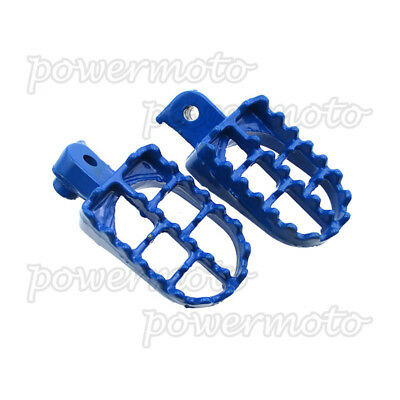 Blue Aluminum Footrest Foot Pegs For Yamaha PW 50 80 PW50 PW80 TW200 Dirt Bike