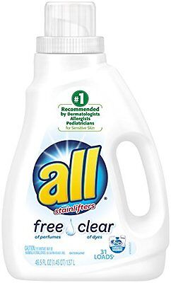 All Ultra Free Clear Liquid Laundry Detergent, 46.5 Ounce (10072613461551) AOI