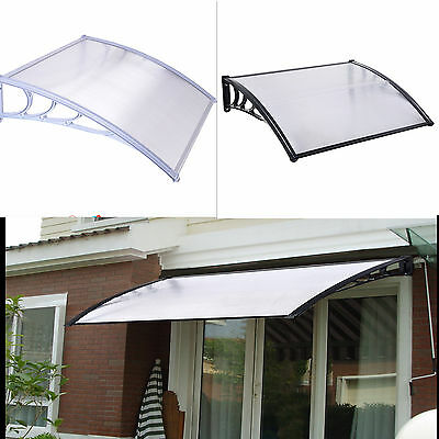 Multi Size Window Door Sun Canopy Sheet Awning Polycarbonate UV Rain Protection