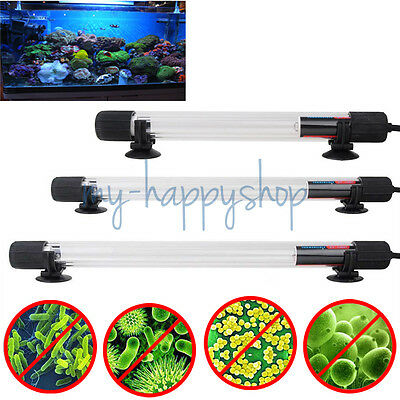 UV Sterilizer Lamp Light Filter Water Cleaner For Aquarium Pond Coral Fish Tank