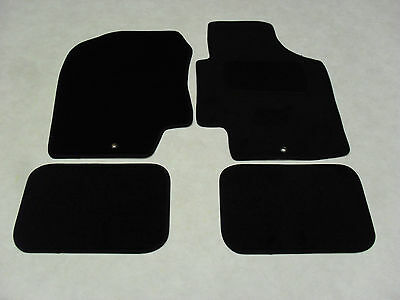 Hyundai i20 2010-14Fully Tailored Deluxe Car Mats in Black. 1 x Fixing Version